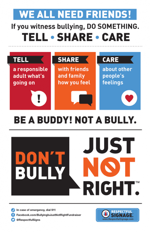 Respectful Ways poster: Tell Share Care